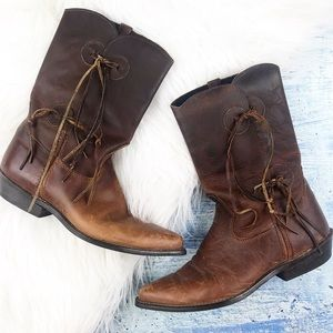 Vintage 1980's capezio cowgirl boots
